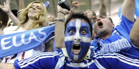 Un supporter grec, le 16 juin à Gdansk. | REUTERS/PAWEL ULATOWSKI