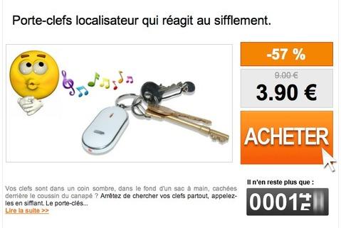 porte-cles localisateur de cles, key finder