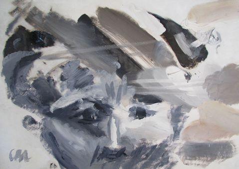Palette qui se transforme en portrait, par Caroline Benoist-Lucy